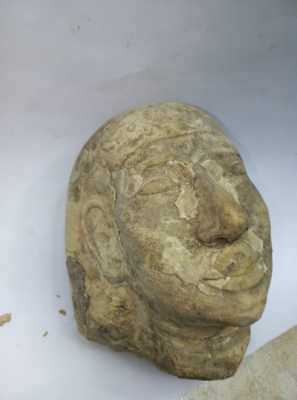 Rare Ancient Egyptian Antique Antiquities Head Of Pharahonic King Limestone BC