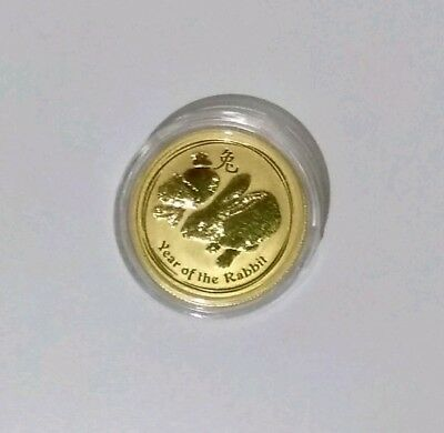 2011 Lunar Rabbit 1/4 Oz 99.99% Gold Coin - Perth Mint