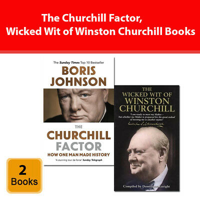 The Churchill Factor, Wicked Wit of Winston Churchill 2 Books collection set NEW