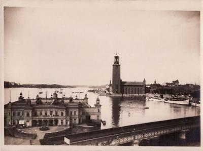 Stockholm General View Panorama Sweden Suède City Hall Mairie old Photo 1930'