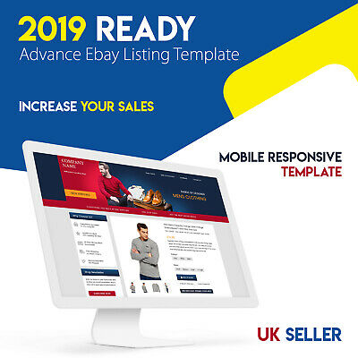 2019 HTTPS Secured Mobile Responsive Ready To Install eBay Product listing