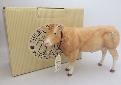 Border Fine Arts Pottery Company Blonde D' Aquitaine Cow A5256 New And Boxed