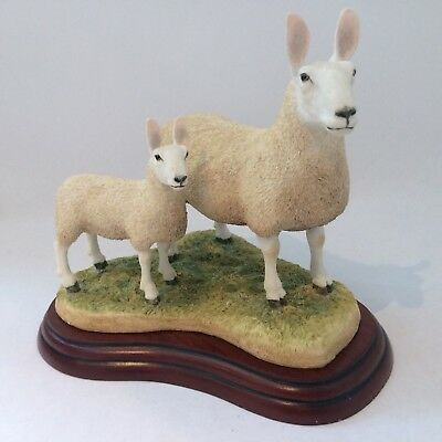 Border Fine Arts Studio Sheep Collection Border Leicester Ewe And Lambs  A3225