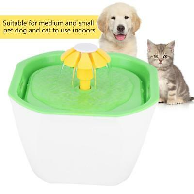 Flower Automatic Electronic Pet Cat Dog Water Drinking Fountain Bowl Filter 1.6L
