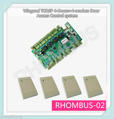 4 RFID READERS+4 Doors Access Control Board Access Control