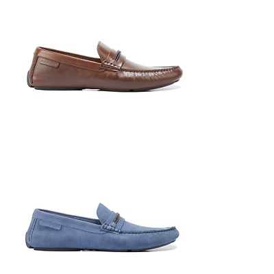 Mens Hush Puppies Jace Rope Loafers Classic Slip On Work Formal Dress Shoes