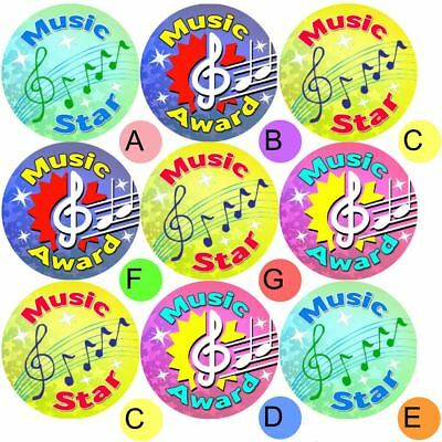 234 Music Awards 30 mm Reward Stickers for School Teachers, Parents and Nursery