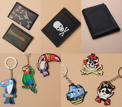 Black Pirate Skull Crossbones Camouflage Parrot Toucan Wallet Or Keyring