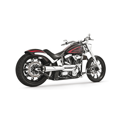 Echappement Freedom Performance American Outlaw High chrome/Noir Softail 84-16