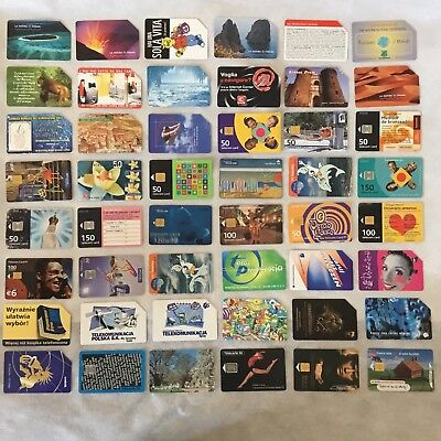 Lot of 72 different phone cards.
