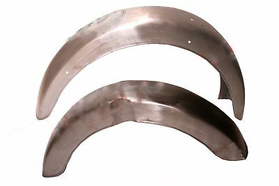 BSA Front & Rear Mudguard Fender Set Raw Bare Metal A7 A10 Swinging Arm