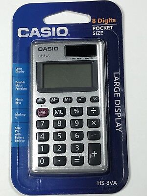 Casio Basic 8-Digit Calculator - Pocket Size - Large Display