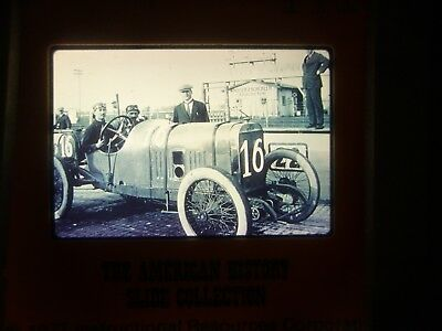 COMM Slide Photo Automobile Car Indianapolis IN Motor Speedway Race Brick 1913