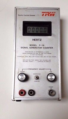 Trw Hertz Signal Generator / Counter Model F-16