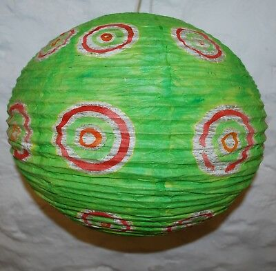 New Nepalese Handmade Waxed Paper Lampshade Ball Hippy Ethnic Ethical Hippie
