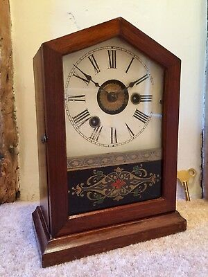 A Gorgeous Small American Cottage Shelf Clock Circa~1880. *Fully Serviced*