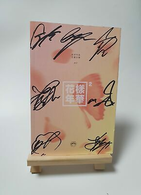 BTS OFFICIAL in the mood for LOVE PT2 PINK signed 7 members signature album KPOP