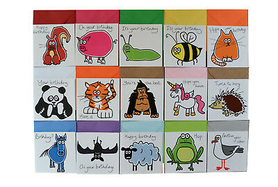 Special offer! NEW Bumper Pack of 15 Mixed Birthday cards. Coloured envelopes.