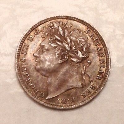 - 1822 Great Britain George IV  Silver Maundy Penny