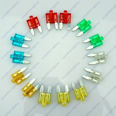14 Car Vehicle APM Mini Blade Fuse Kit Status LED 5A 10A 15A 20A 25A 30A