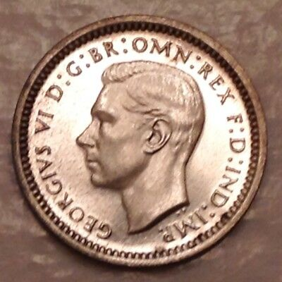 - 1941 Great Britain George VI Silver Maundy Twopence - Only 1,345 Minted