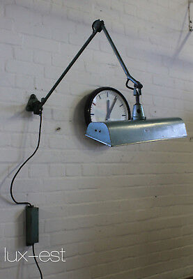 """MIDGARD NEON"" Werkstatt Gelenklampe Bauhaus Design Lampe 1950 Workshop Light"