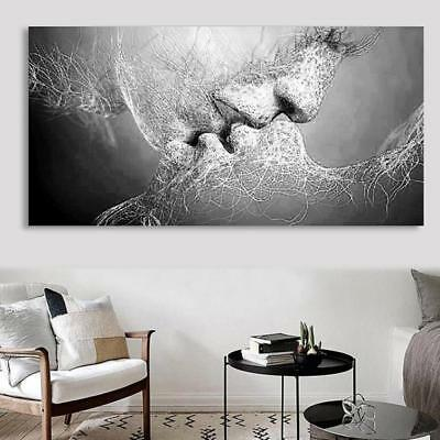 Couple Kiss Modern Abstract  Art Oil Painting Picture Print Wall Decor Unframed