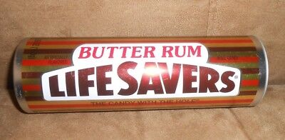 Life Savers Butter Rum Candy Collectors 7 inch Empty Tin