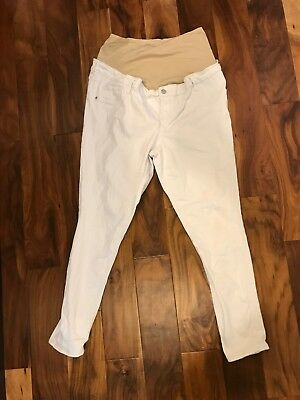 Old Navy Maternity Jeans White 14 Skinny