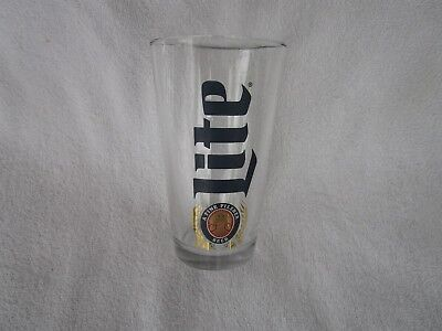 Miller Lite Pint Glass A Fine Pilsner Beer~~HEAVY+HIGH QUALITY!!!!!