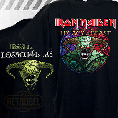 IRON MAIDEN Legacy of the Beast Tour T-Shirt Mens Short Sleeve Black