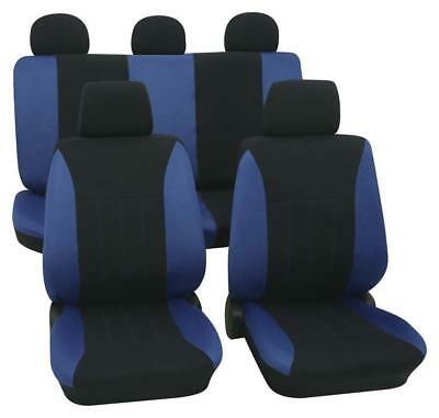 Blue & Black Car Seat Covers For Honda Concerto