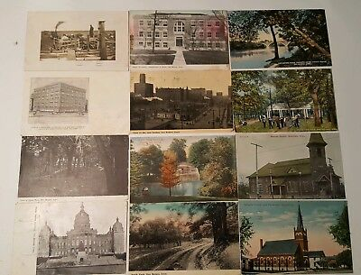 Antique Postcards, Lot of 13 Asst,d Early 1900's Iowa, mostly Des Moines