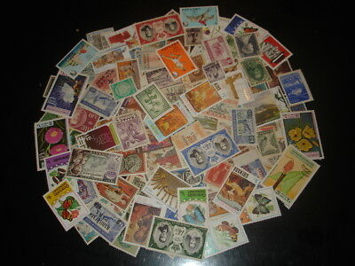 100 Stamps All Diferent Lot World All Mnh