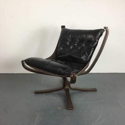 DANISH FALCON CHAIR SIGURD RESSELL RETRO 60s 70s MIDCENTURY BLACK  #2445a