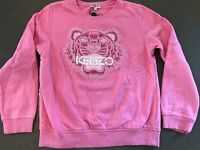0699a90ce8af Kenzo Girls Pink Sweatshirt With Front Beaded Logo ,Size 14, Adorable