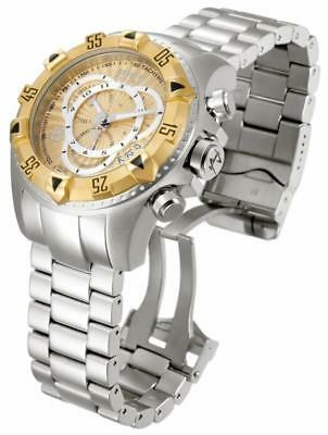 Invicta Reserve 11006 52mm Excursion Tachymeter Chronograph Gold Dial Mens Watch