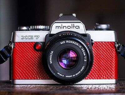 Restored & Film Tested Minolta XG-7 Camera w/Rokkor-X 45mm f2 Pancake Lens