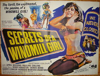 Secrets of a Windmill Girl-Sexploitation-A.L.Miller-Strip Tease-BQ (40x30 inch)