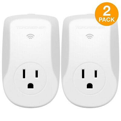 TOPGREENER Wi-Fi 15A Outlet Plug Energy Monitoring, Alexa Compatible, 2 Pack