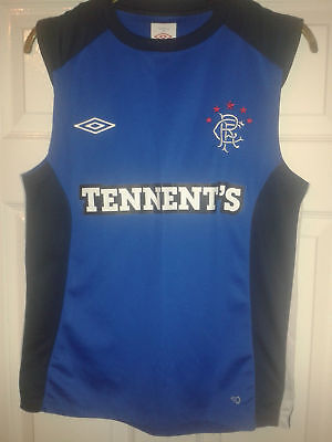 Mens Football Shirt - Glasgow Rangers - Umbro - Training Vest 2010 - Blue - S