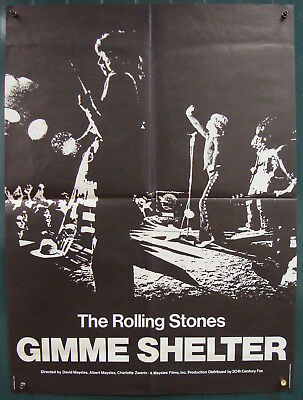 Gimme Shelter-Rolling Stones-Documentary-Rock and Roll-French (23x31 inch)