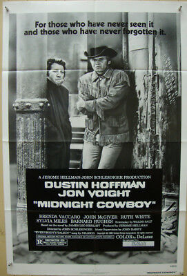 Midnight Cowboy-J.Schlesinger-D.Hoffman-J.Voight-OS Re-80 (27x41 inch)
