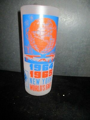 Vintage 1964-1965 New York World's Fair Unisphere Collectors Glass