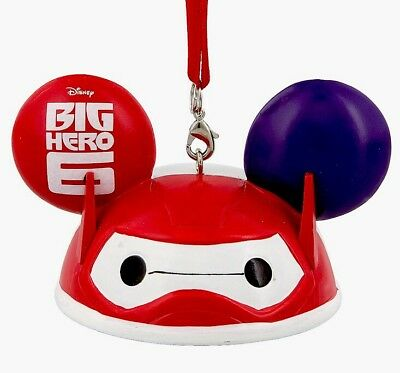 Disney Park Pack Subscription Big Hero 6 Baymax Ear Hat Ornament New with Box