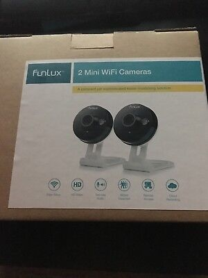 Home Security Camera WiFi Wireless Smart Mini 2Way Audio 2-Pack Funlux Cheapest