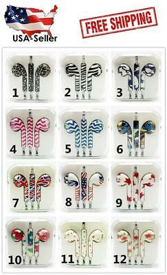 PATTERN Earbuds Earphones  Headset For Android, iPhone 6/5/4 Remote & Mic 3.5mm