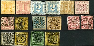 Early GERMANY States Stamps Postage Collection Baden Bayern THURN AND TAXIS