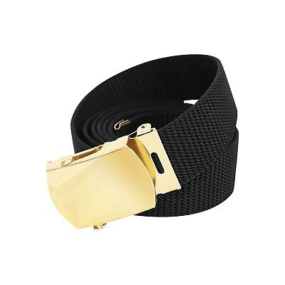 PURPLE BELT WITH GOLD BUCKLE 100% Cotton Military Web Belts