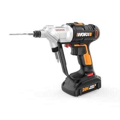 WORX WX176L 20V Switchdriver 2-in-1 Cordless Drill and Driver with Rotating...